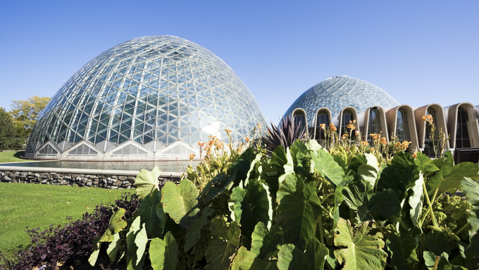 Domes of a Botanic Garden in Milwaukee, Wisconsin.