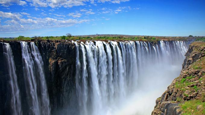 A view of Victoria Falls.