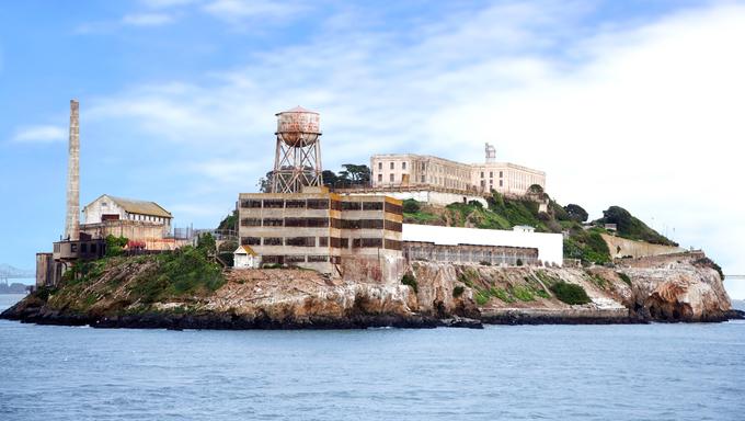 Alcatraz Island, a famous prison in San Francisco.