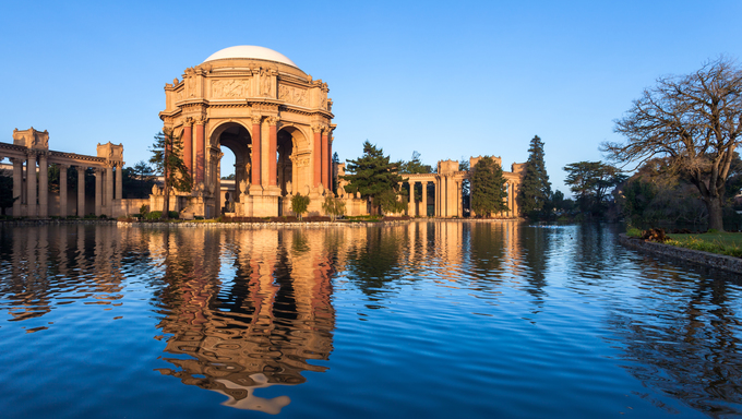 Palace of Fine Arts in some early morning light.