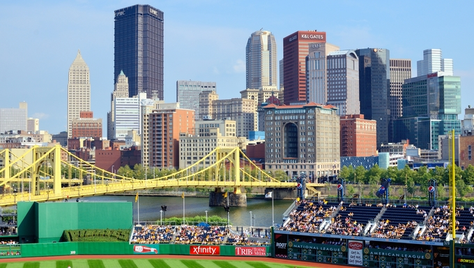 PNC Park and Downtown Pittsburgh.