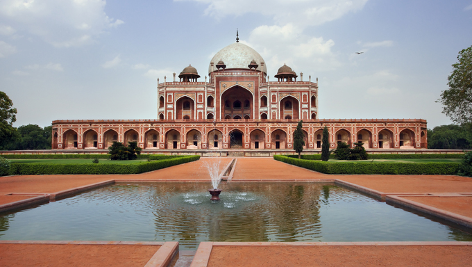 Humayun's Tomb in New Delhi, India.