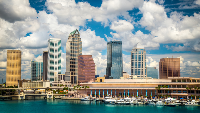 The Tampa Skyline.