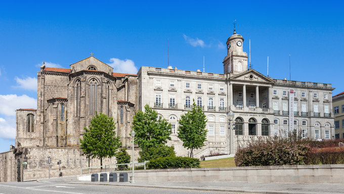 PORTO, PORTUGAL - JULY 02: The Palacio da Bolsa (Stock Exchange Palace) and Church of Saint Francis on July 02, 2014 in Porto, Portugal