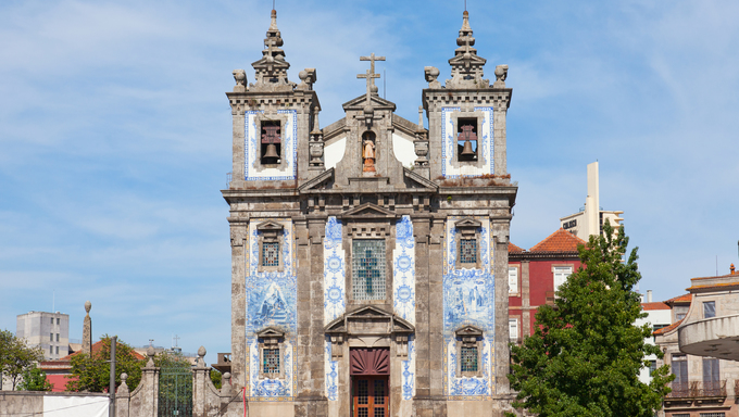 Church of Santo Ildefonso in Porto, Portugal
