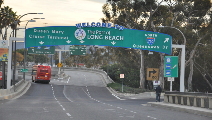 The road to Long Beach.