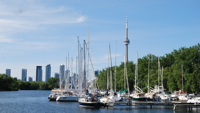 A view of the Toronto Islands.