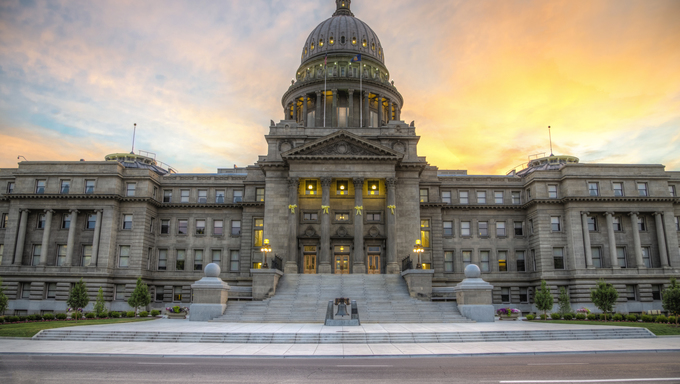 Idaho State Capital Building in Boise