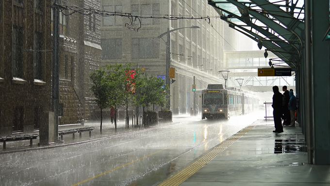 A rainy day in Calgary.