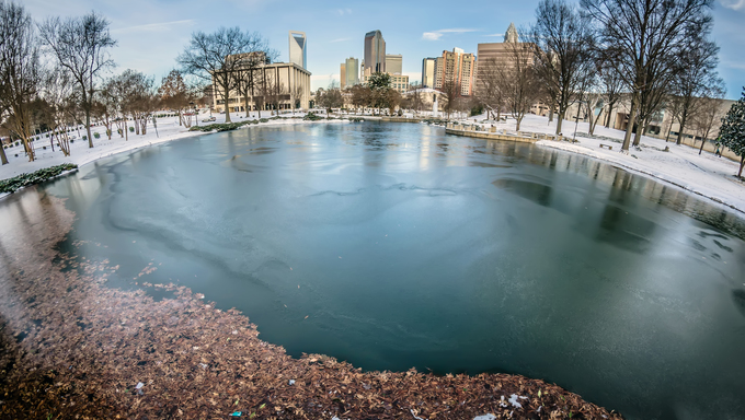 charlotte north carolina marshall park in winter