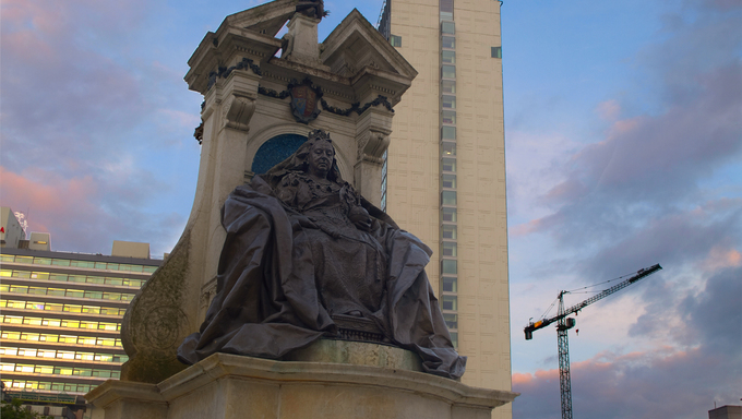 Queen Victoria Statue in Manchester City Centre, UK