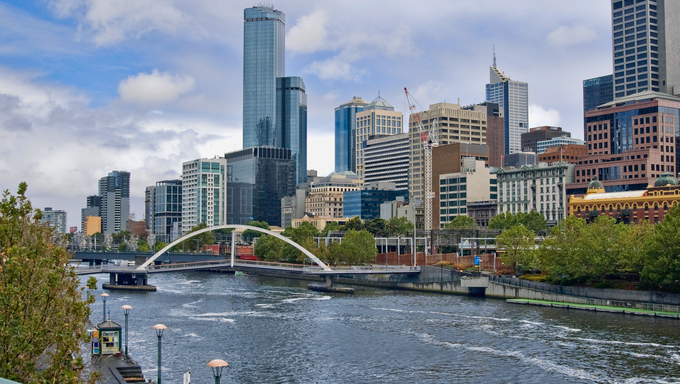 The Yarra River in Melbourne.