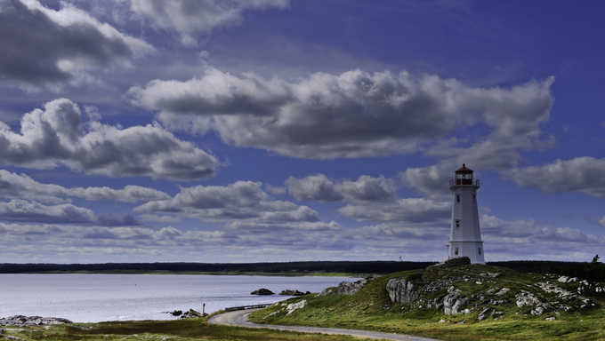 Lighthouse near the Fortress of Louisbourg.