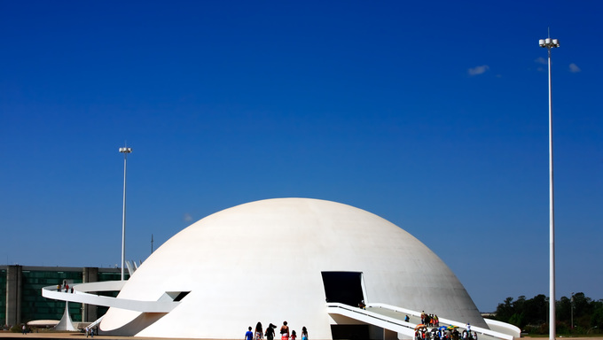 The Metropolitan Cathedral of Brasilia city capital of Brazil UNESCO World Heritage site is an expression of the geniality of the architect Oscar Niemeyer