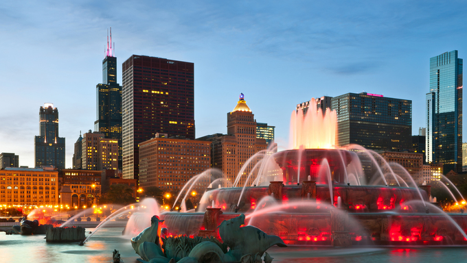 Buckingham Fountain in Chicago.