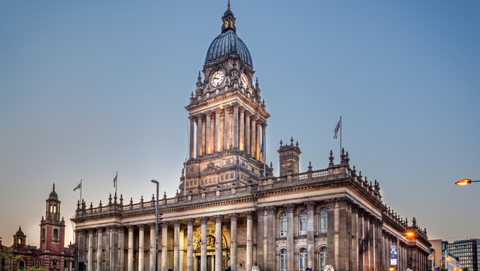Leeds Town Hall is a Grade 1 listed building in the city centre of Leeds England