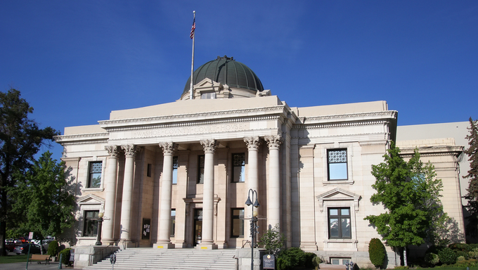 Washoe County Courthouse in Reno, Nevada, USA.