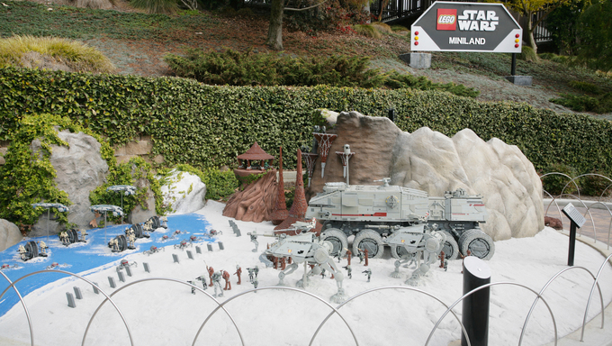 The Star Wars mini-land at Lego Land