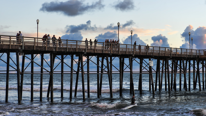 A pier on the ocean.