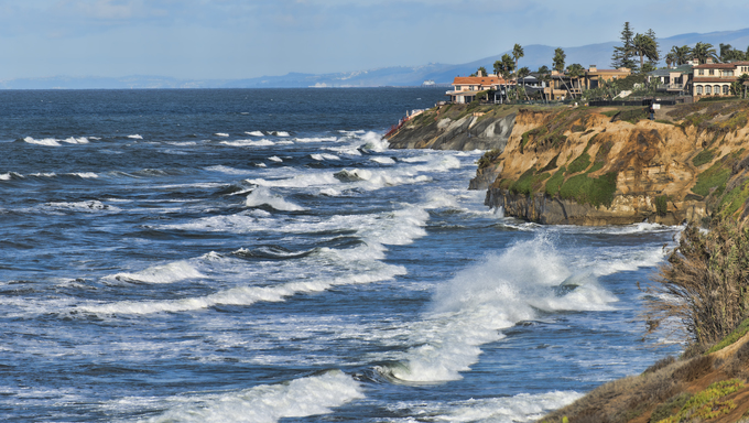 The shores of Carlsbad, Southern California.