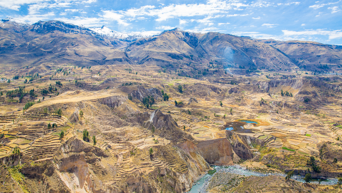 Colca Canyon, Peru,South America. One of deepest canyons in world.