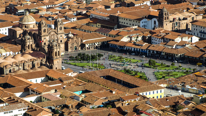 Plaza de Armas in Cusco, Peru.