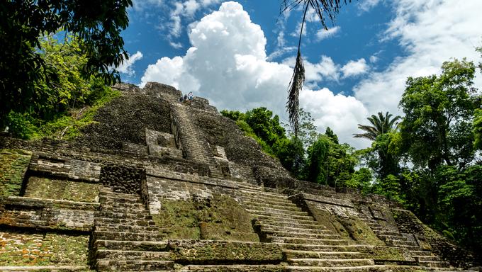 Lamani, a Mayan ruin in Belize.