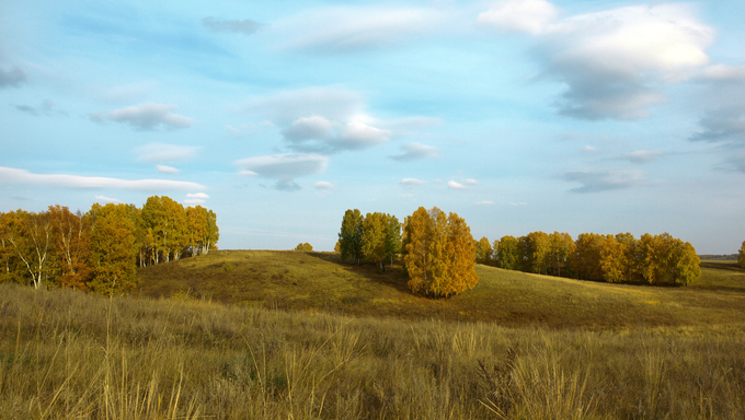 Russia, Siberia, Golden Autumn