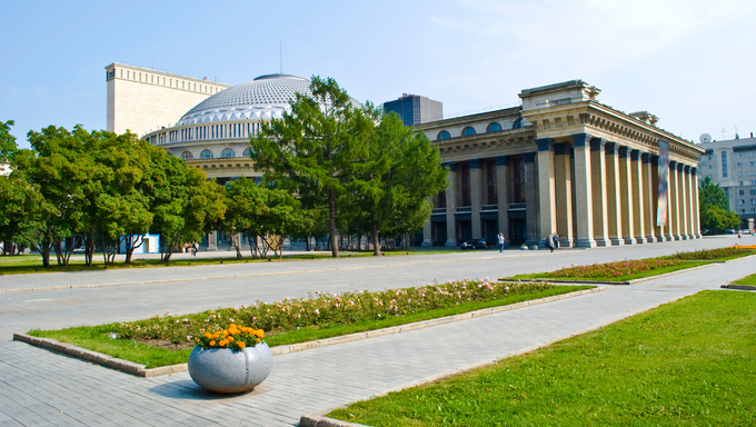 An Opera and Ballet Theater in Novosibirsk.