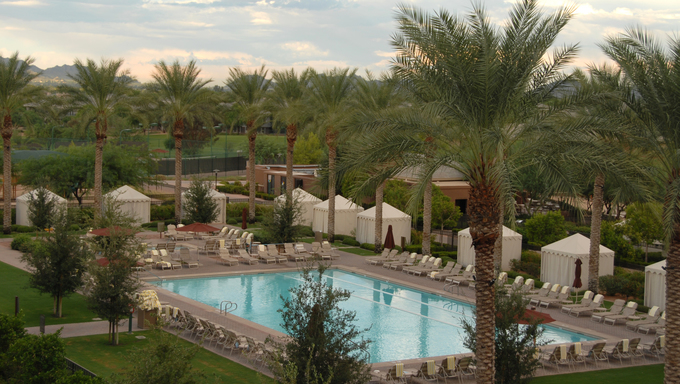Hotel swimming pool, Scottsdale, Arizona