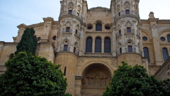 The Cathedral of the Incarnation, Malaga, Spain.