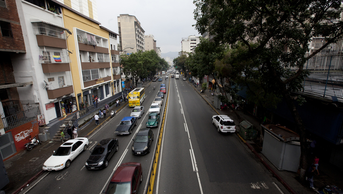 transit in downtown, caracas, venezuela
