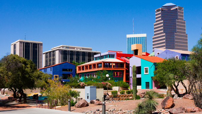 Downtown Tucson, Arizona.