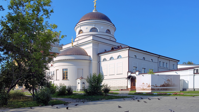 "Church of Icon of the Mother of God ""Joy of all who Sorrow"" in the Novo-Tikhvin women's monastery of Yekaterinburg, Russia"