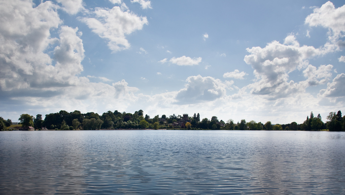 View of Ellesmere Lake with the town in the distance.