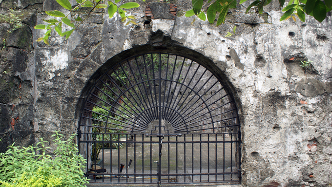 Entrance of fort Manila