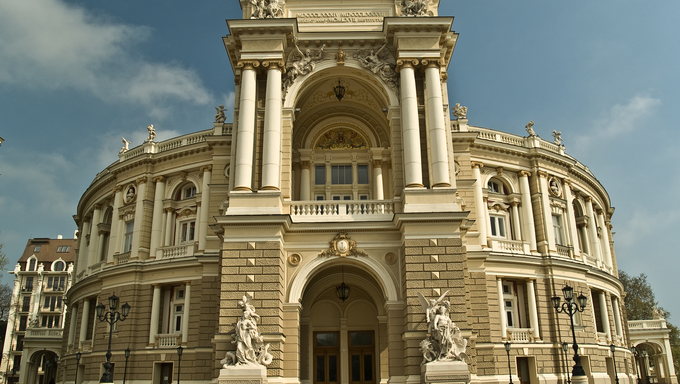 Old Opera Theatre Building in Odessa Ukraine