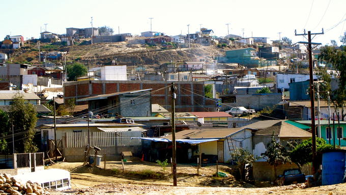 A small community of houses in Mexico.