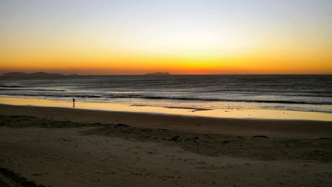 Tijuana at sunset.