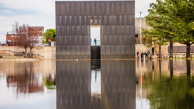 The Bombing Memorial in Oklahoma City.