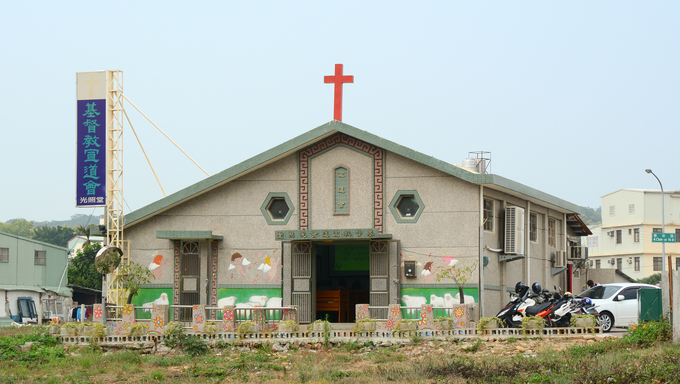 Taichung, Taiwan - Mar 15, 2015. The old church in Taichung countryside. Taichung's population was an estimated 2,709,764 in July 2014.