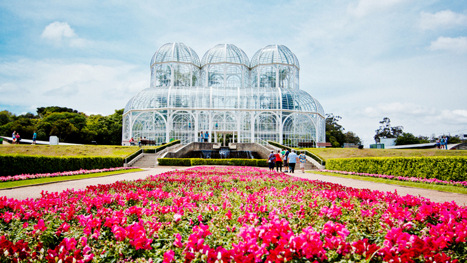 The Botanical Garden of Curitiba, Brazil.