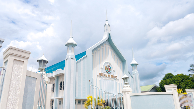 catholic white church in Naga city, Philippines. Iglesia ni cristo means in Philippine language (tagalog) church of christ. It stands for the largest independent christian church in asia.