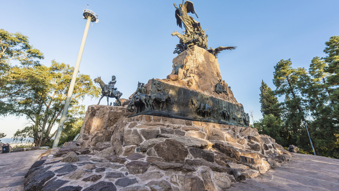 Monument to the Army of the Andes at the top of the Cerro de la Gloria at the General San Martin Park, inaugurated on February 12, 1914, anniversary of the Battle of Chacabuco in Mendoza, Argentina.