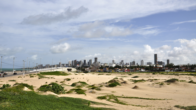 Sand dunes at Natal, Rio Grande do Norte.