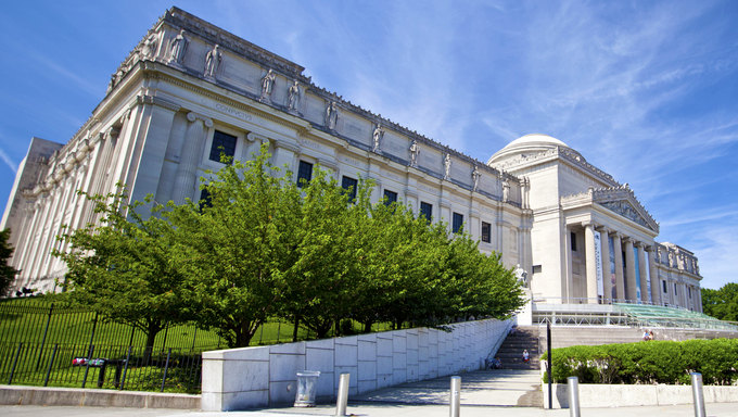 Brooklyn, New York. The Brooklyn Museum which holds New York City's second largest art collection.