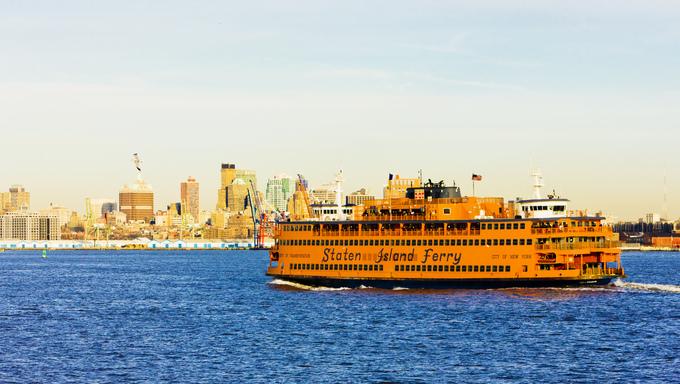 Ferry for Staten Island, New York, USA.