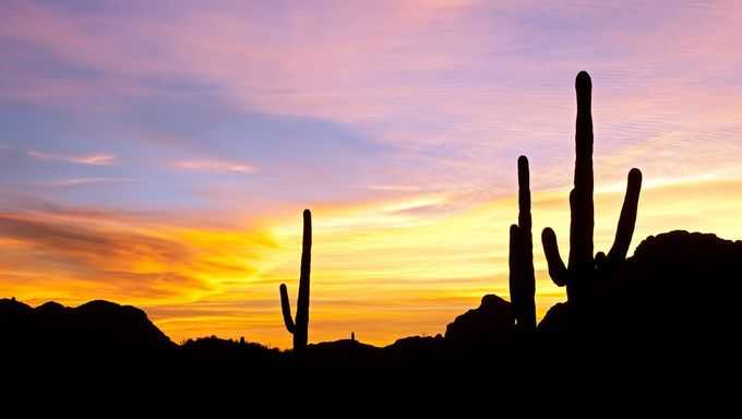A view of one of the famous Arizona sunsets.