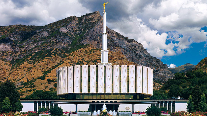 The temple in Provo.