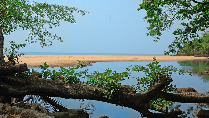 A view of the coast in Sierra Leone.
